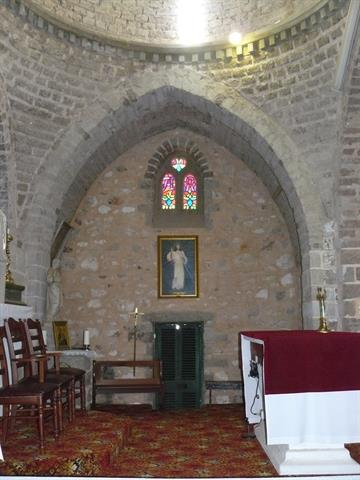 Interior view looking to right of altar