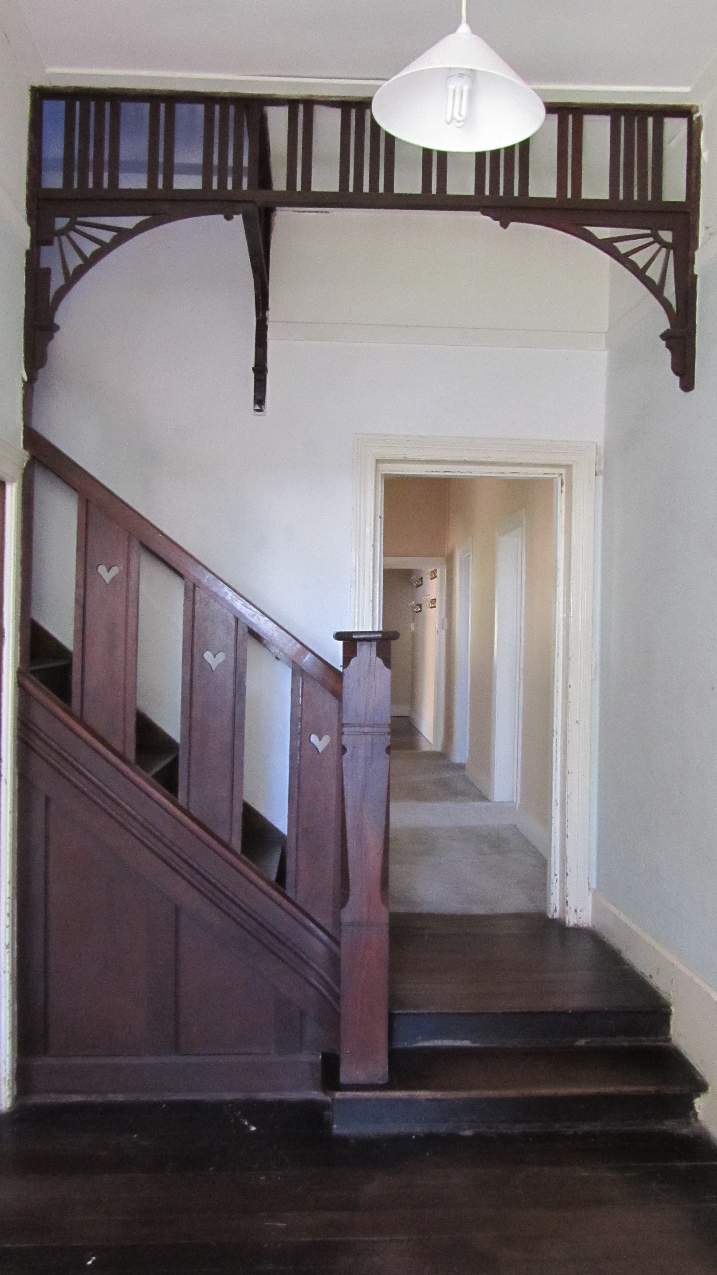 Interior staircase from ground floor