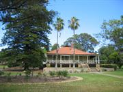 Front elevation showing gardens