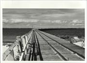 View down the second jetty, looking out to sea