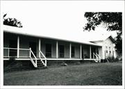 Angled view of portion of nurses quarters frontage