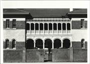 Front elevation of building showing balcony arcature and verandah collumns