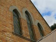 church front windows detail