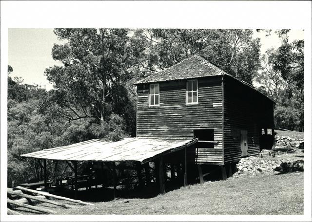 Corner elevation of Millbrook Mill building