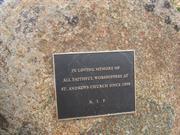 memorial garden plaque