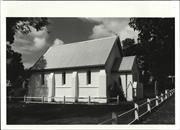 Corner elevation of church