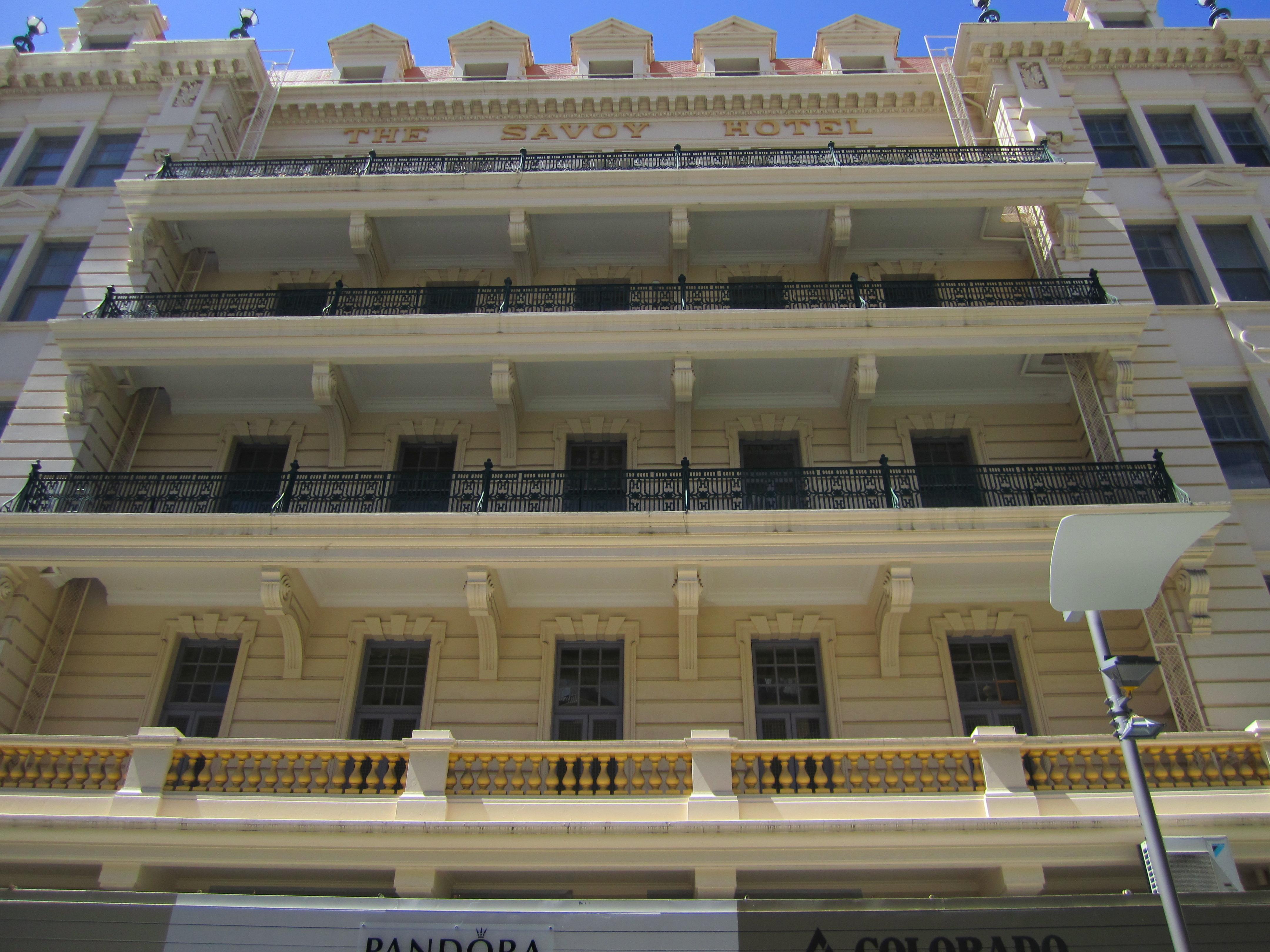 Front view of balconies