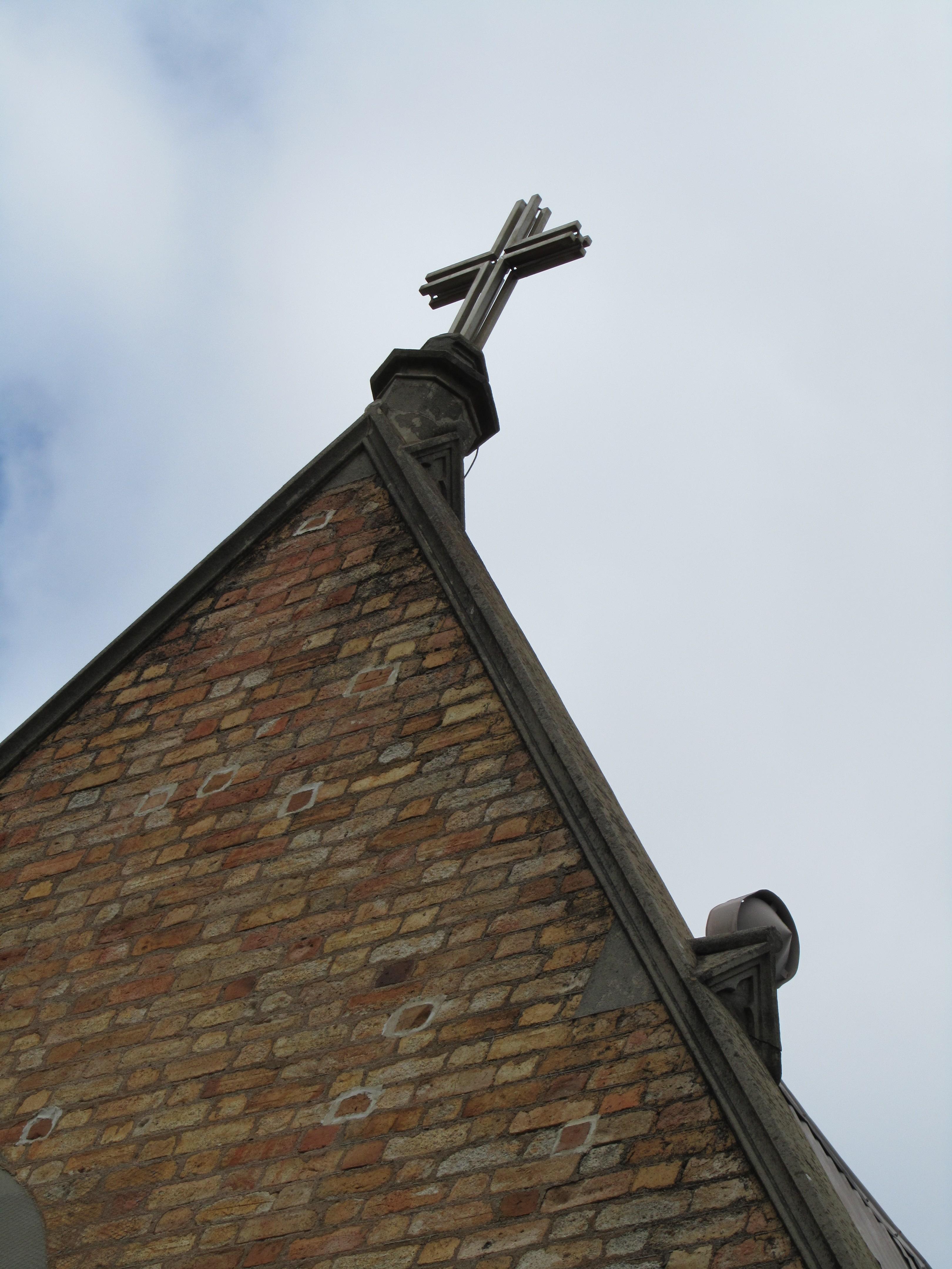 church front gable parapet detail