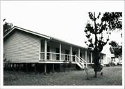 Left corner elevation of nurses quarters