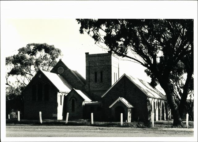 Angled elevation of Eastern frontage of church