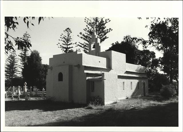 Rear corner elevation of building