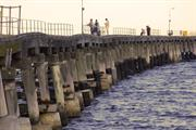 Detailed view of jetty