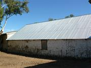 Shearing shed reroofed - south side