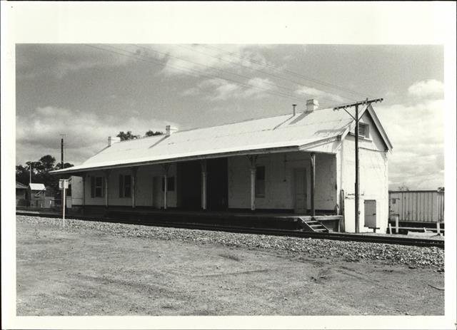 Corner elevation of building from trackside