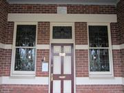 front entry door and windows detail