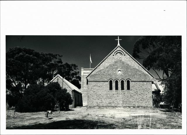 Western elevation of church