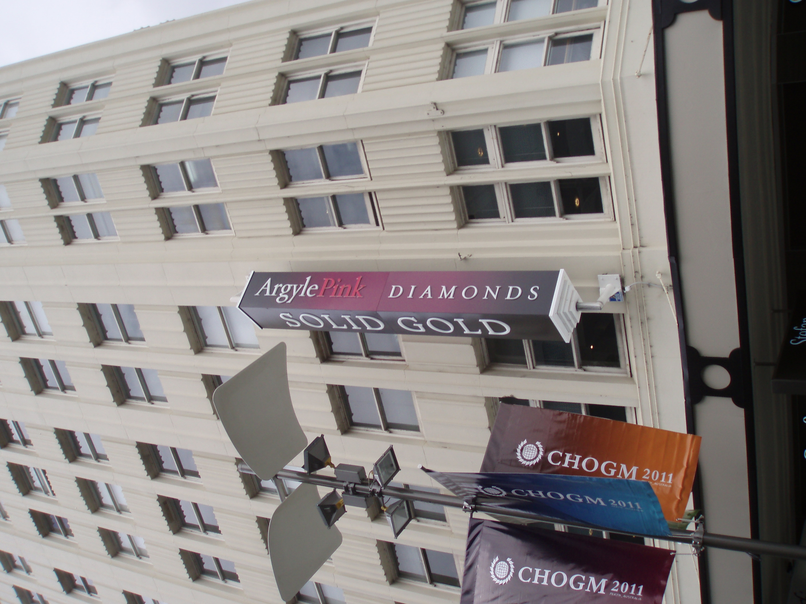 Rotating wall sign on northern facade of Gledden Building - 25-10-11