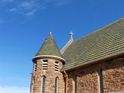 North east turret - shingle tiles missing