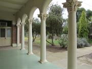 view looking out to garden from front verandah