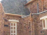 Southern facade - dislodged roof tiles
