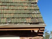 Western facade - detail missing tiles2