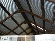 Shearing shed reroofed interior view