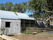 Shearing shed reroofed - north side