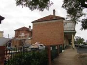 rear elevation along Albion St