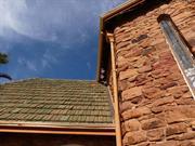 North west corner - tiles missing upper roof