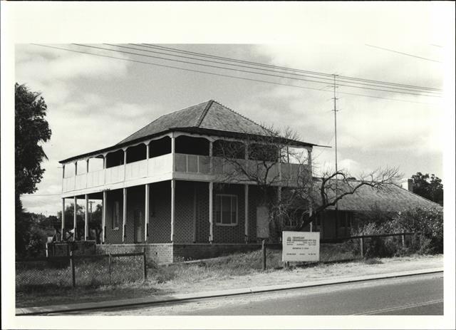 Corner elevation of building