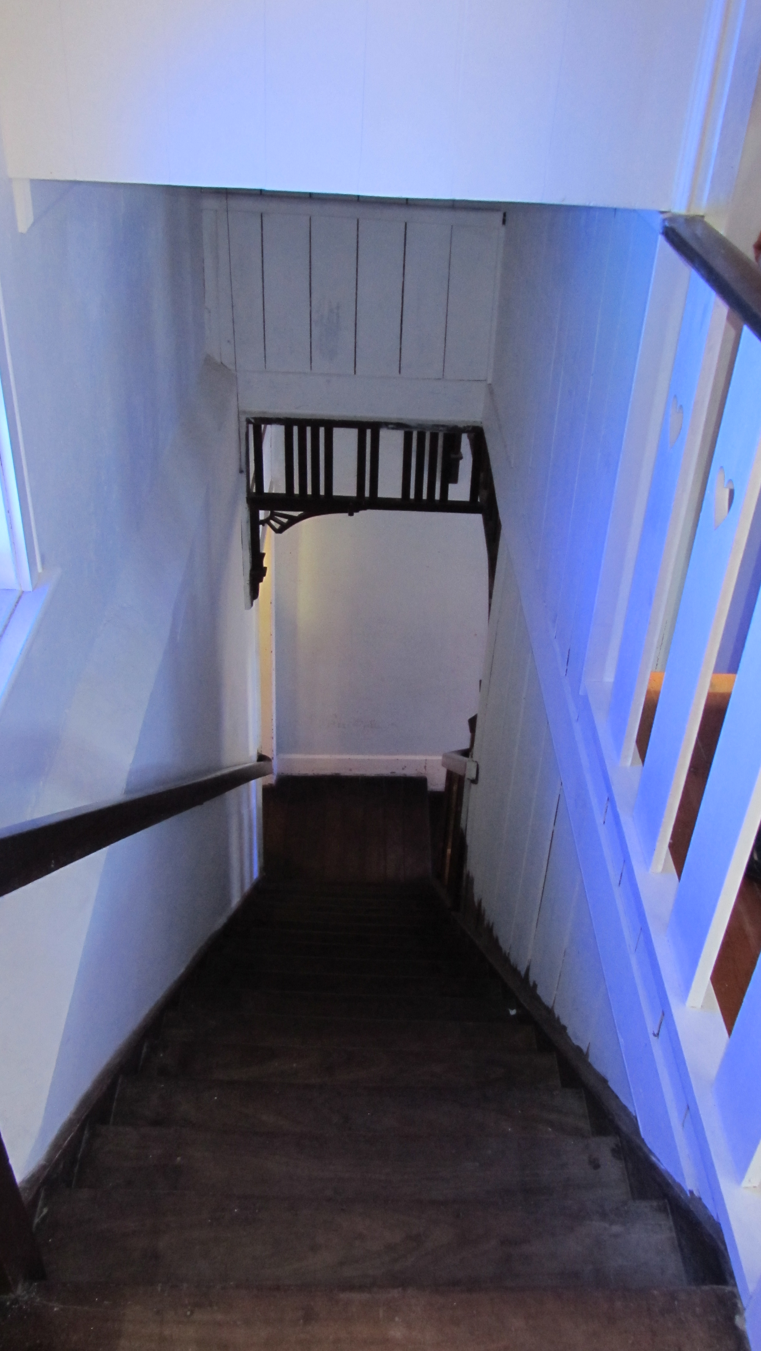 Interior staircase from upstairs