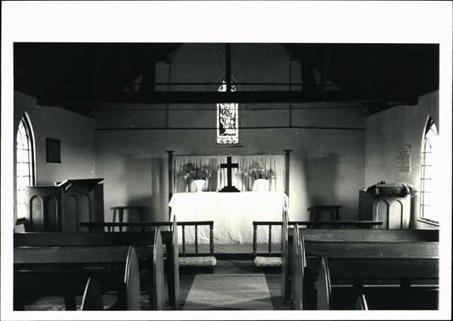 Interior view of chancel