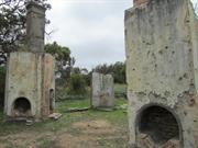 Warrant Officer's House ruins detail