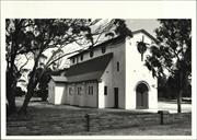 Left corner elevation of church